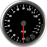 "4"" Tachometer 12K RPM Shift-light"