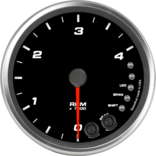 "4"" Diesel Tachometer 4K RPM Shift-light"