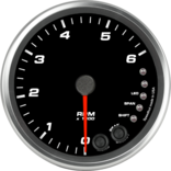 "4"" Tachometer 6K RPM Shift-light"