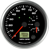"4-1/2"" Dual Gauge - 80mph GPS Speedometer / Fuel Level (w/ turn signal and high beam)"