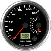 "4-1/2"" Dual Gauge - 120mph GPS Speedometer / 10K Tachometer (w/ turn signal and high beam)"
