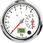 "4-1/2"" Dual Gauge - 8K Tachometer / 120mph GPS Speedometer (w/ turn signal and high beam)"