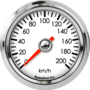 "2-1/16"" Speedometer 200km/h Metric programmable"