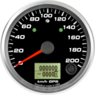 "3-3/8"" GPS Speedometer 200km/h Metric (w/ turn signal and high beam)"