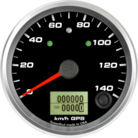 "3-3/8"" GPS Speedometer 140kmh Metric (w/ turn signal and high beam)"