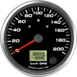 "4"" GPS Speedometer 200km/h Metric (w/ turn signal and high beam)"