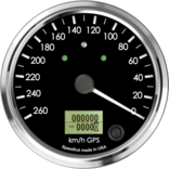 "4"" GPS Speedometer 260km/h Metric (Counter Clockwise with turn signals and high beam)"