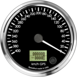 "4"" GPS Speedometer 400km/h Metric (Counter Clockwise)"