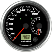 "4-1/2"" Dual Gauge - 200km/h Metric GPS Speedometer / 8K Tachometer (w/ turn signal and high beam)"