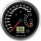 "4-1/2"" Dual Gauge - 260km/h Metric GPS Speedometer / 8K Tachometer (w/ turn signal and high beam)"