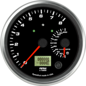 "4-1/2"" Dual Gauge -  8K Tachometer / 200km/h Metric GPS Speedometer (w/ turn signal and high beam)"