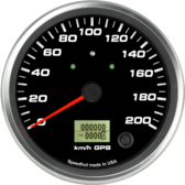 "4-1/2"" GPS Speedometer Gauge 200km/h Metric (w/ turn signal and high beam)"